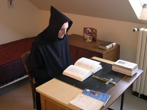 Lectio divina in the monk's cell