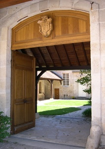 The gate to the guest house
