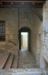 Passage in front of the guest house