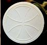 hostie gravée avec une croix